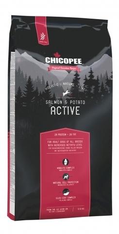 Chicopee HNL Active Salmon & Potato корм для активных собак всех пород с мясом лосося и картофелем 12 кг