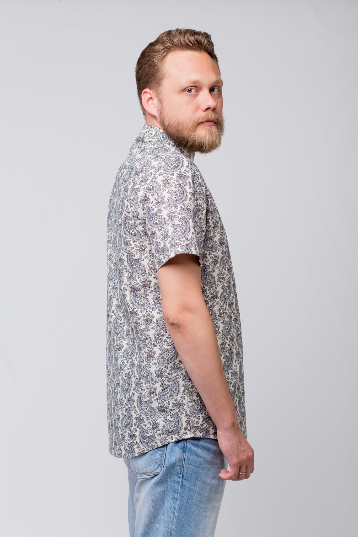 Рубашка льняная Огурцы купить
