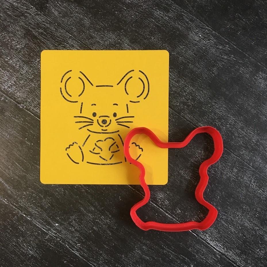 Мышка №17 с сердечком