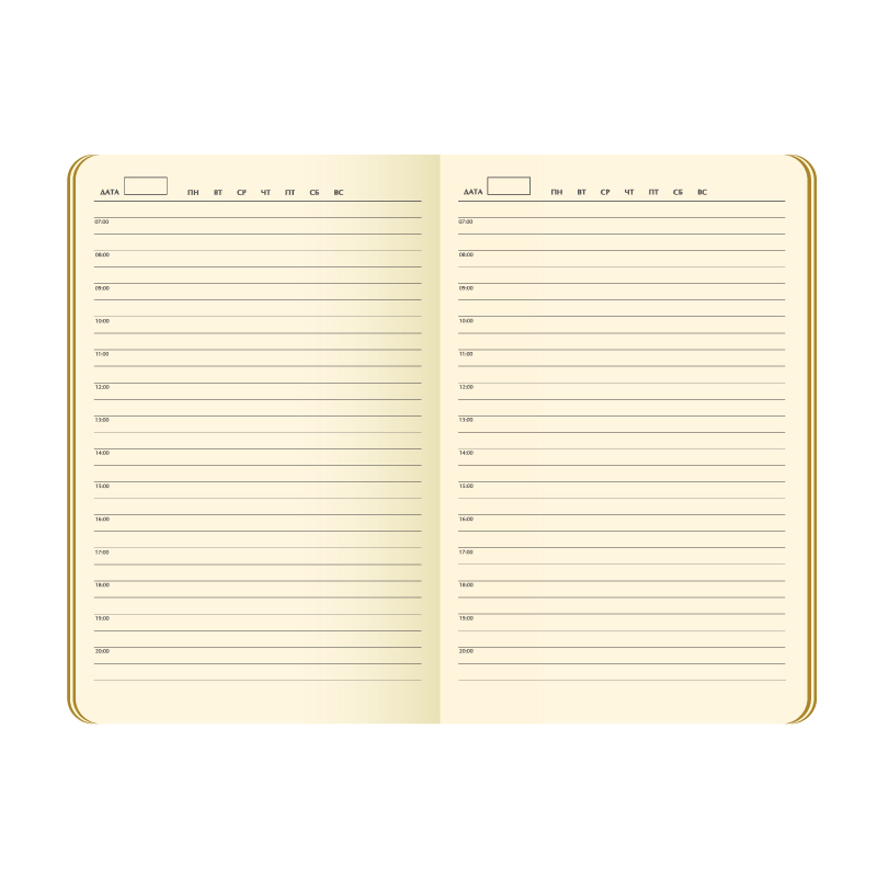 Ежедневник недатированный, Portobello Trend, Alpha , жесткая обложка , 145х210, 256 стр, синий/голубой