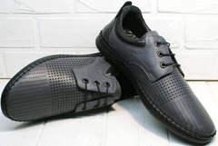 Обувь типа мокасин - летние мужские туфли с перфорацией  Ridge Z-430 75-80Gray