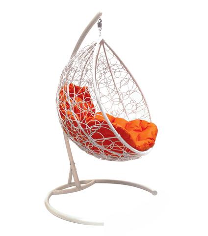 Кресло подвесное Lagos white/orange
