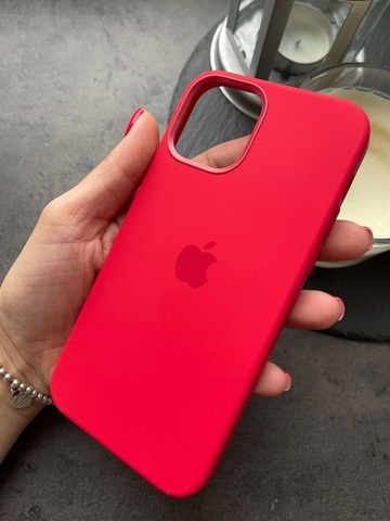 Чехол Iphone 12/12 pro Silicone case original quality /red/