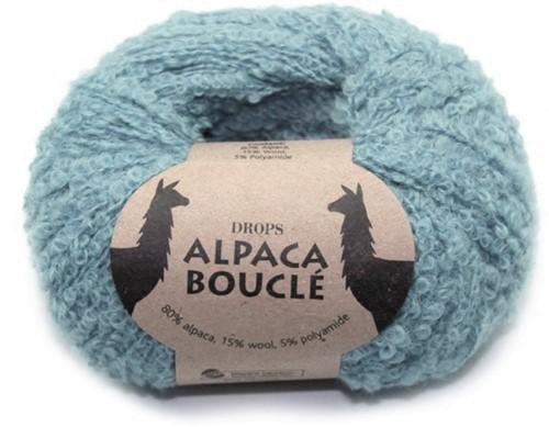 Пряжа Drops Alpaca Boucle 7402 светлая бирюза