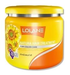 Лечебная маска для окрашенных волос из экстракта подсолнечного масла LOLANE