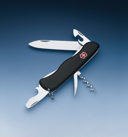 Нож Victorinox Picknicker, 111 мм, 11 функций, черный