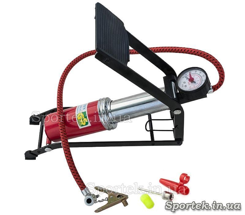 Насос ножний велосипедний одноциліндровий з манометром Foot Pump CN-200