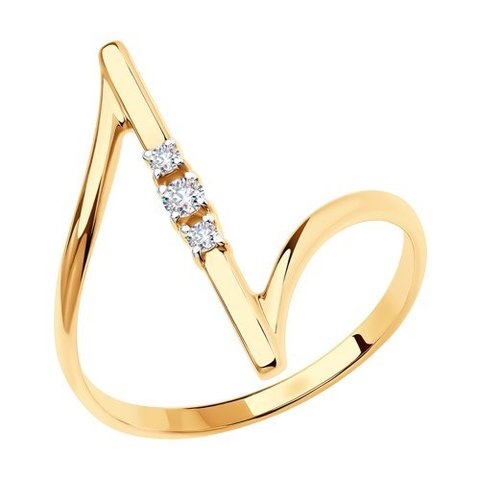 018678 - Кольцо из золота с фианитами