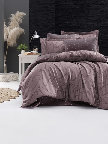 Комплект постельного белья DO&CO Сатин DELUX Семейный ROVENA цвет фиолетовый