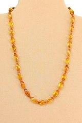 бусы из янтаря оранжевый_цвет янтарный коньячный