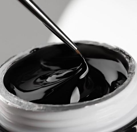 Гель краска чёрная без липкого слоя