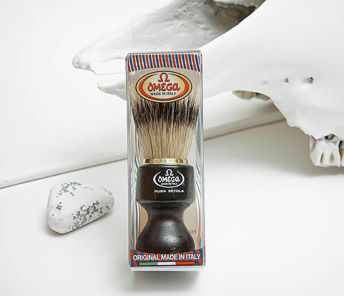 RAZ503 Помазок «OMEGA» с рукояткой из дерева, щетина кабана фото 02