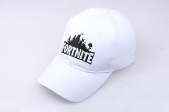Модная бейсболка с вышивкой Fortnite  (Кепка Фортнайт) белая