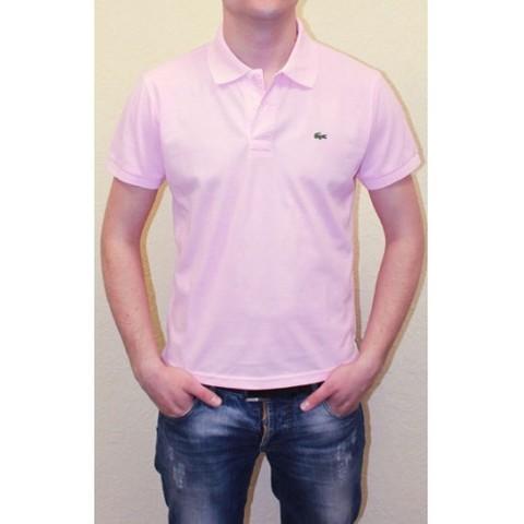 Мужское поло бледно-розовое Lacoste Pink Polo