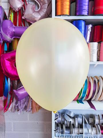 №16 Нежно Жёлтый Гелиевый шар металл 30см с обработкой