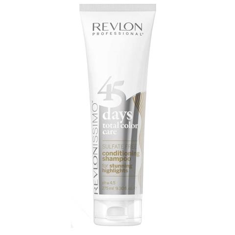 Revlon Revlonissimo Color Care: Шампунь-кондиционер для Светлых холодных оттенков и  мелированых волос (Shampoo & Conditioner Stunning Highlights), 275мл