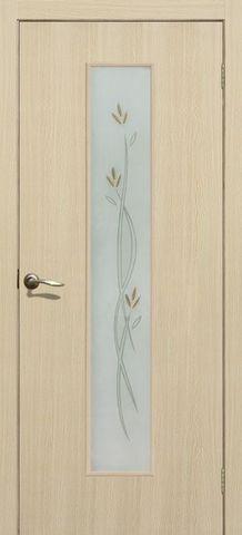 Дверь Сибирь Профиль Соло, цвет ясень бьянка, остекленная