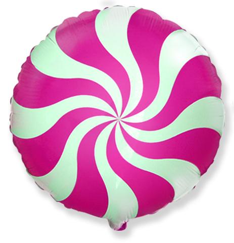 Фольгированный шар Леденец розовый