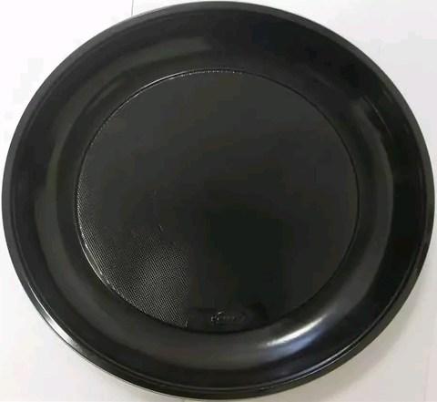 Тарелка черная одноразовая бессекц. (16г) черная ПП D=220 мм