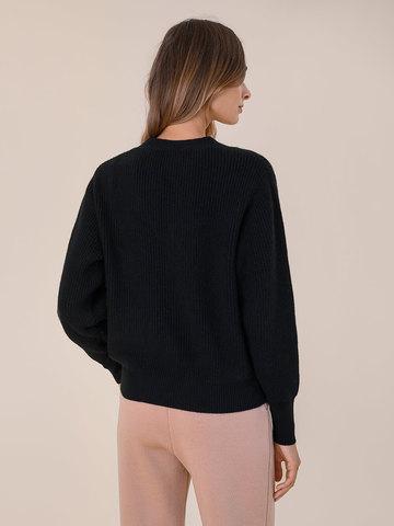 Женский жакет черного цвета из шерсти и кашемира - фото 4