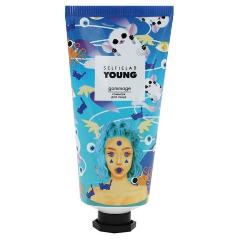 SelfieLab YOUNG Гоммаж для лица с папаином,молочной кислотой и экстрактом клубники 50мл