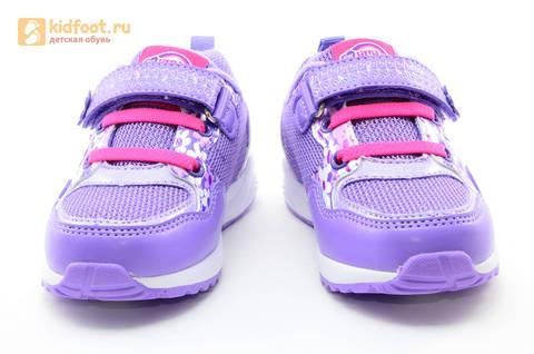 Светящиеся кроссовки для девочек Пони (My Little Pony) на липучках, цвет сиреневый, мигает картинка сбоку, 5868A. Изображение 5 из 15.