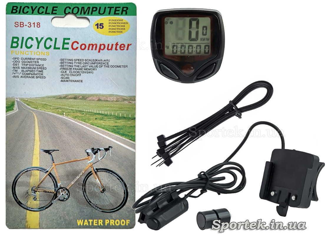 Комплектация велокомпьютера SB-318