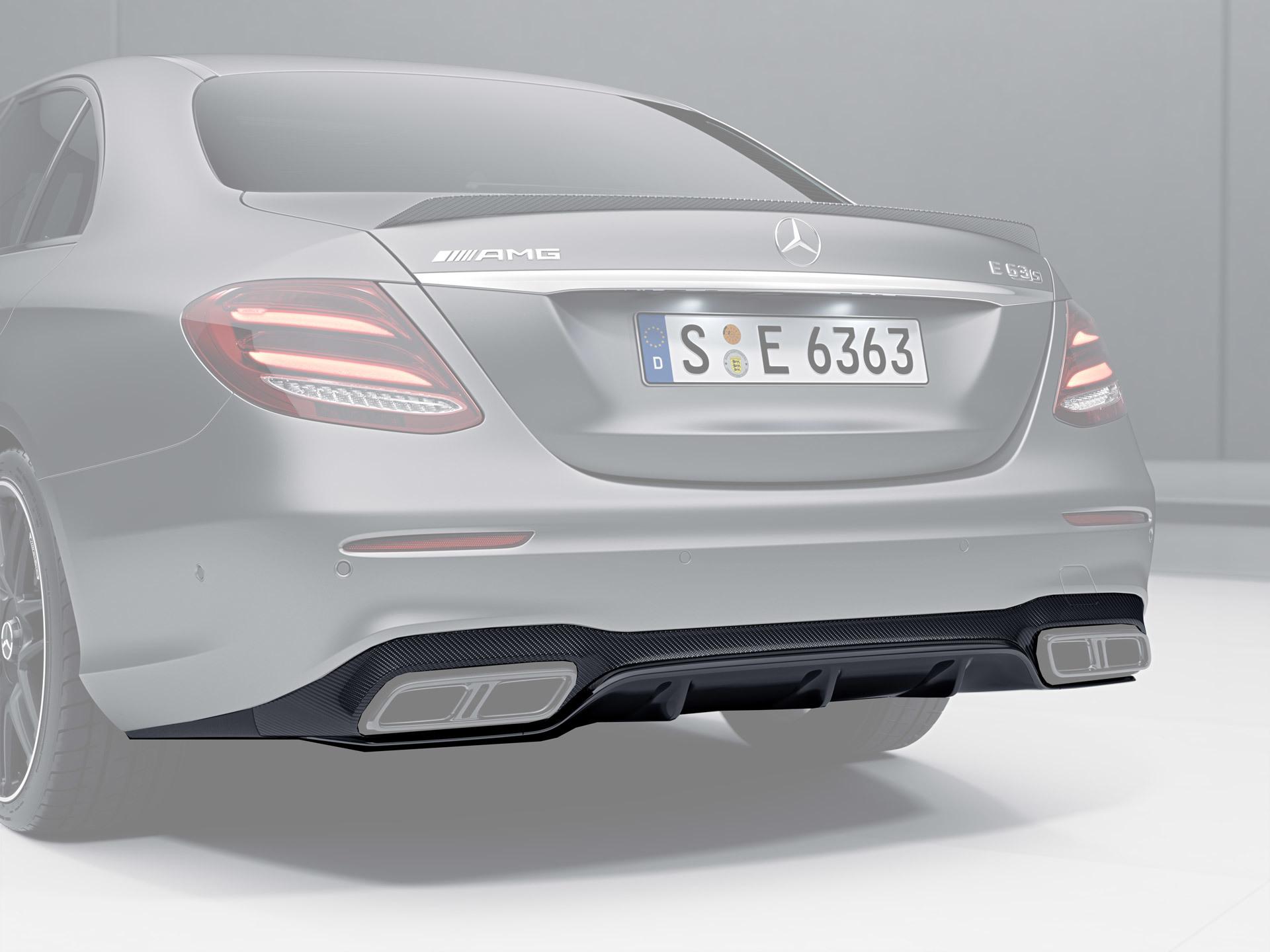 Карбоновый диффузор 63 AMG Style для Mercedes E-class W213