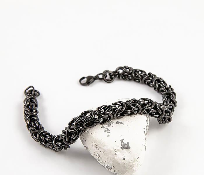 BM524-1 Мужской стальной браслет черного цвета фото 04