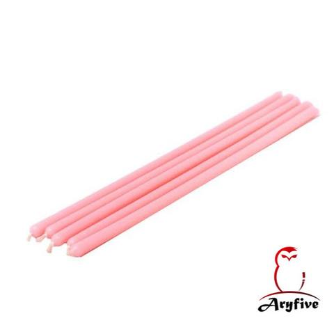 Розовые тонкие свечи