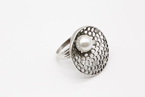 Кольцо из серебра с жемчугом К1602004572 Армения