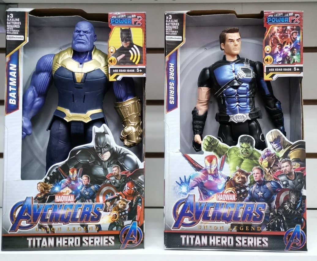 Два супергероя 30 см Танос и Ронин