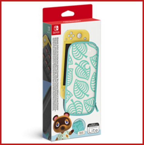 Чехол в стиле Animal Crossing: New Horizons + защитная плёнка (Nintendo Switch Lite)
