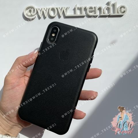 Чехол iPhone XR good Leather Case /black/
