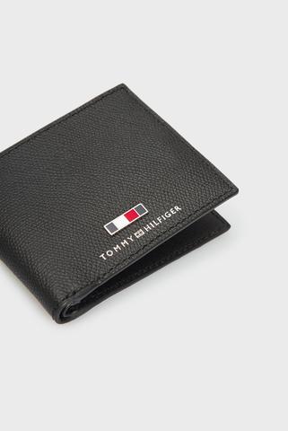 Мужской черный кожаный кошелек BUSINESS MINI CC WALLET Tommy Hilfiger