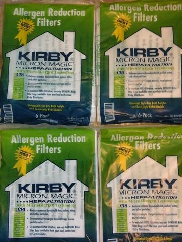 МЕГА АКЦИЯ! 24 шт х 125руб + 2подарка! Четыре упаковки по 6 шт   мешков Kirby Micron Magic Hepa Allergen