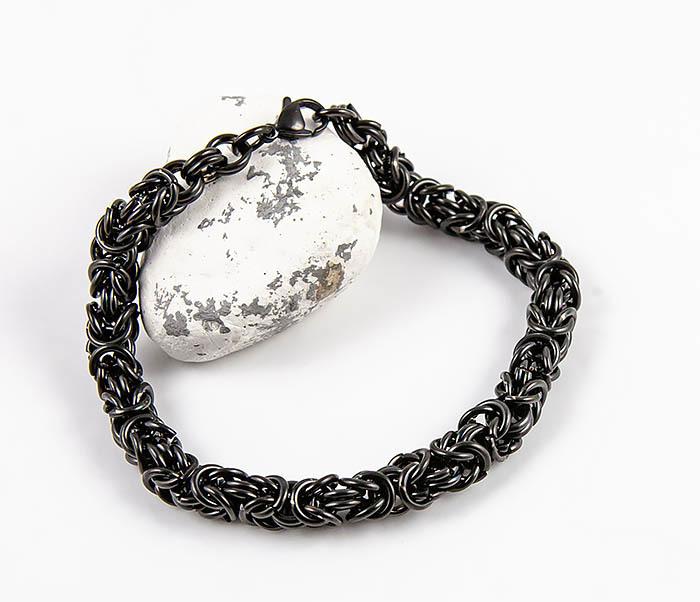 BM524-1 Мужской стальной браслет черного цвета фото 06