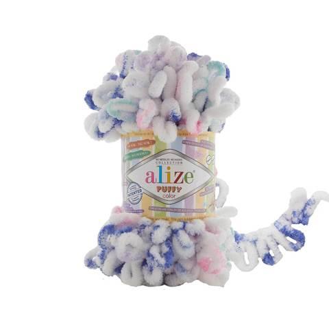 Купить Пряжа Alize Puffy Color Код цвета 6245 | Интернет-магазин пряжи «Пряха»