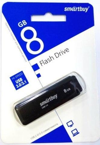 Флеш-накопитель USB 3.0  8GB  Smart Buy  LM05 черный