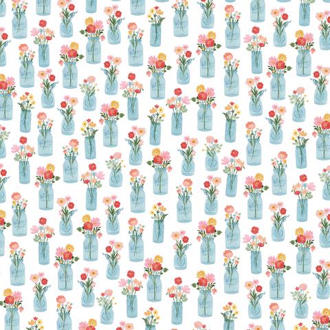 Лист двухсторонней бумаги Carta Bella - SUMMER - Floral Jars - 30x30