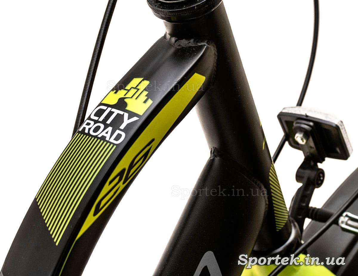 Форма труб рамы женского городского велосипеда Formula Breeze 2016