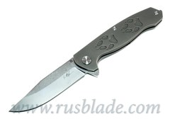 Cheburkov Wolf Damascus Folding Knife Best Russian Knives