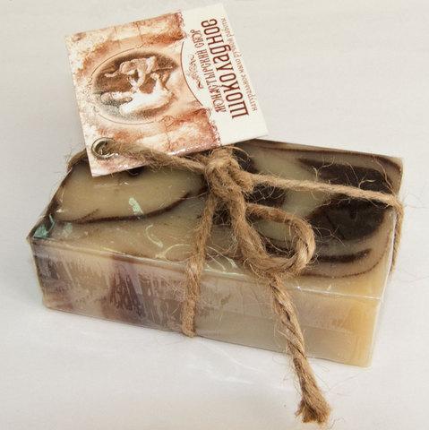 Туалетное мыло на коренной воде Шоколадное