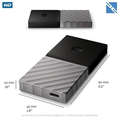 Внешний SSD Western Digital WD 512GB My Passport USB 3.1 Gen 2 External SSD