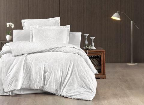 Комплект постельного белья DO&CO Сатин DELUX Семейный TAMMY цвет белый