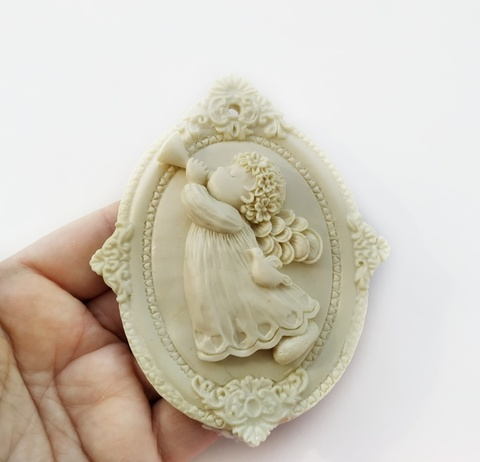 Д0559 Панно Ангел (пластиковый декор)