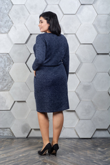 Марсія. Батальне плаття з ангори. Синій