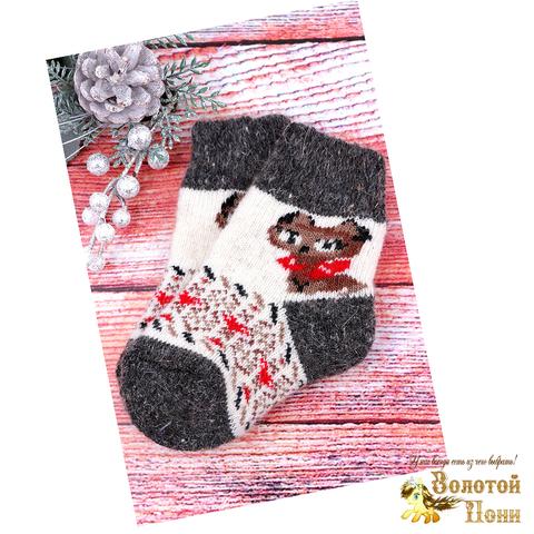 Носочки детские шерсть (1-2) 191015-Н-017