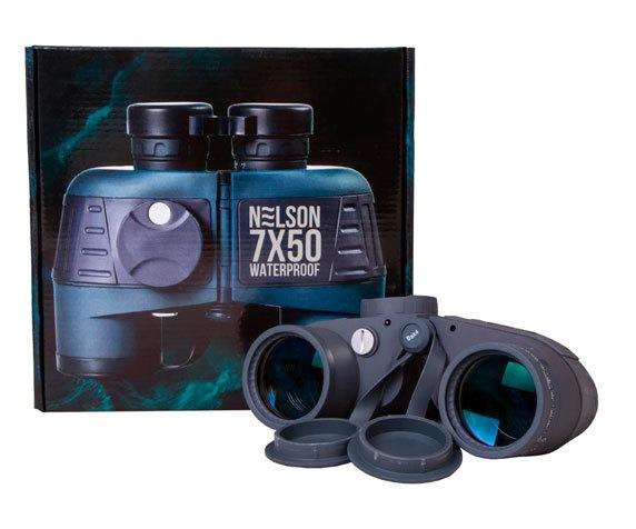 Бинокль Levenhuk Nelson 7x50 - обрезиненное покрытие