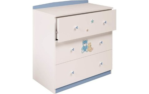 Комод Polini kids Плюшевые Мишки 3190 белый-синий